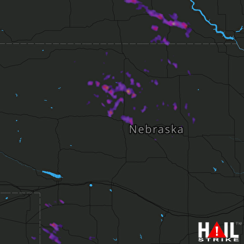 Hail Map Winner, SD 08-18-2017