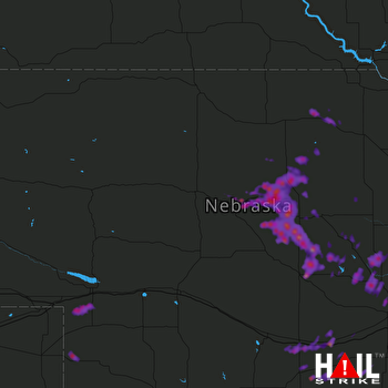 Hail Map Kearney, NE 08-20-2017