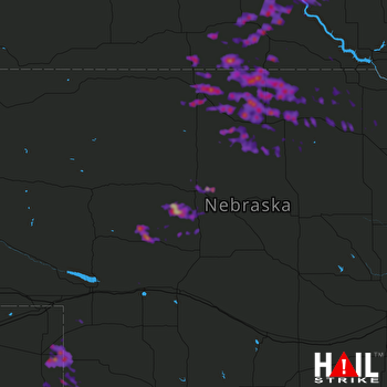 Hail Map Valentine, NE 08-26-2017