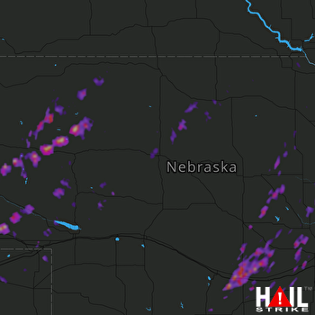 Hail Map Sidney, NE 09-16-2017