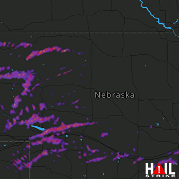 Hail Map North Platte, NE 05-11-2018