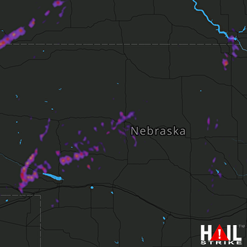Hail Map Creighton, NE 05-24-2018