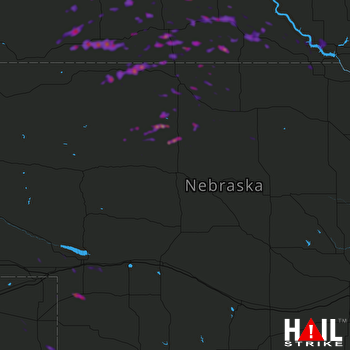 Hail Map Winner, SD 06-13-2018