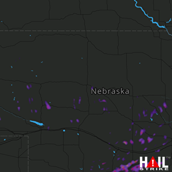 Hail Map Kearney, NE 06-30-2018