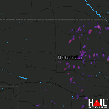 Hail Map Holdrege, NE 07-04-2018