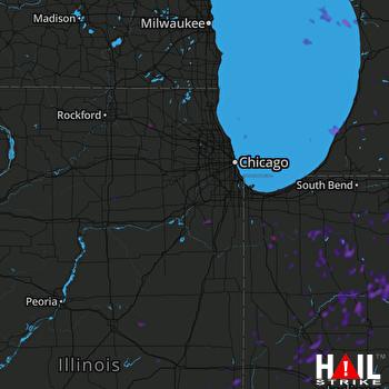 Hail Map Benton Harbor, MI 08-25-2018