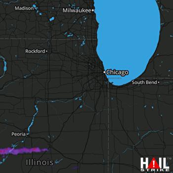 Hail Map Manito, IL 05-24-2019