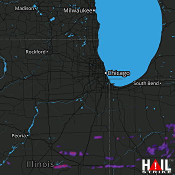Hail Map Danville, IL 05-28-2019