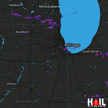 Hail Map Chicago, IL 06-01-2019