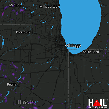 Hail Map Rock Island, IL 07-03-2019