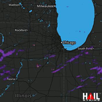 Hail Map Lafayette, IN 08-11-2021
