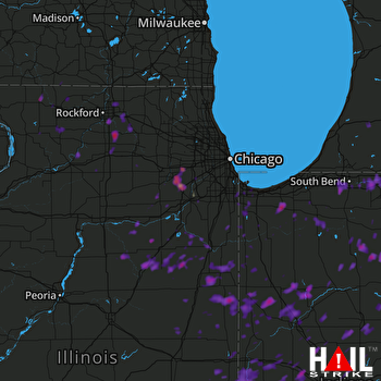 Hail Map Rockford, IL 06-13-2017