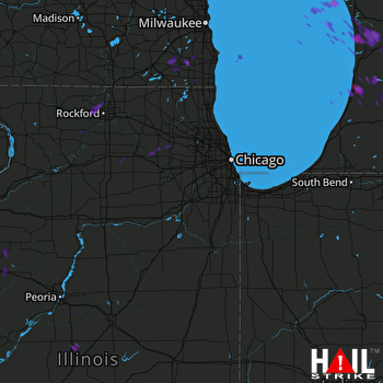 Hail Map Union Grove, WI 06-17-2017