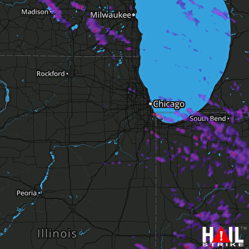 Hail Map Kalamazoo, MI 07-07-2017