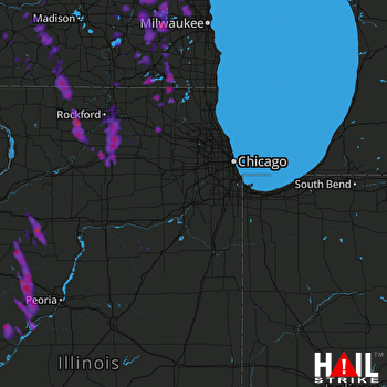 Hail Map Brookfield, WI 07-16-2017
