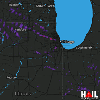 Hail Map Elgin, IL 07-22-2017