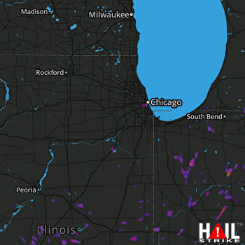 Hail Map Cicero, IL 08-01-2017