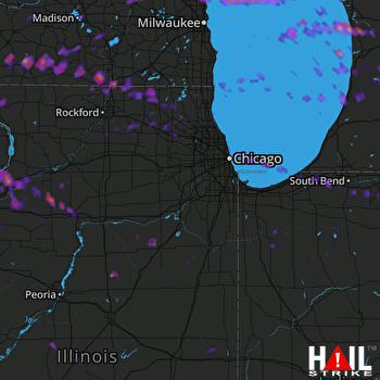 Hail Map Beloit, WI 08-10-2017