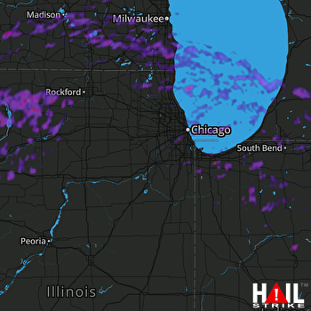 Hail Map Madison, WI 05-14-2018