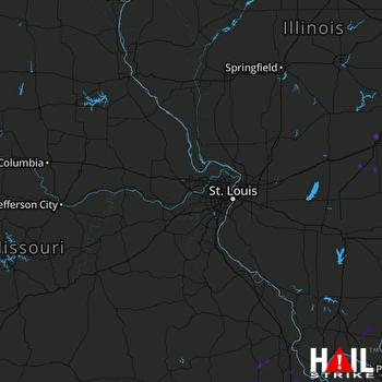 Hail Map La Center, KY 06-23-2019