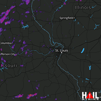 Hail Map Jefferson City, MO 05-15-2020