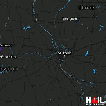 Hail Map Sedalia, MO 08-11-2020