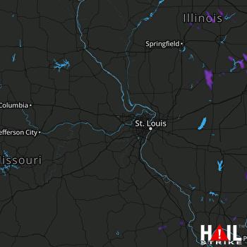 Hail Map Carmi, IL 06-13-2021