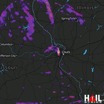 Hail Map Florissant, MO 07-10-2021