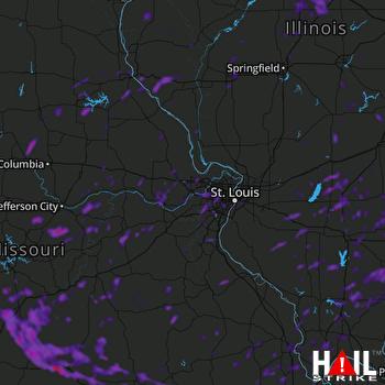 Hail Map Ballwin, MO 08-09-2021