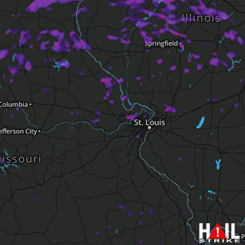 Hail Map Springfield, IL 08-13-2021