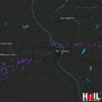 Hail Map Florissant, MO 05-20-2018