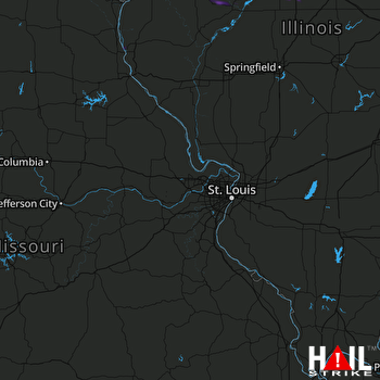 Hail Map Pekin, IL 06-10-2018