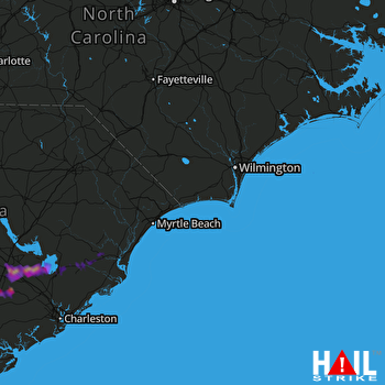 Hail Map Holly Hill, SC 05-13-2017