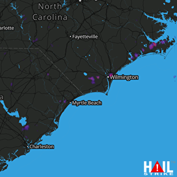 Hail Map Wilmington, NC 07-12-2018