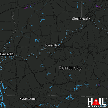 Hail Map Greenfield, IN 05-31-2019