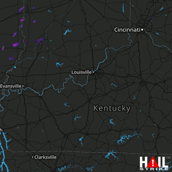 Hail Map Olney, IL 06-16-2019