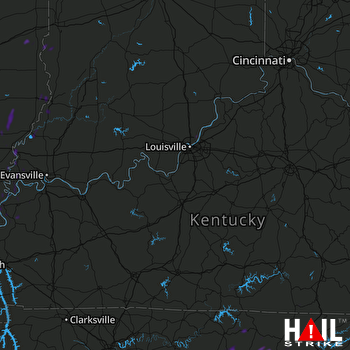 Hail Map Prospect, KY 07-05-2019