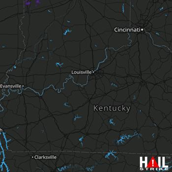 Hail Map Clinton, IN 07-10-2019