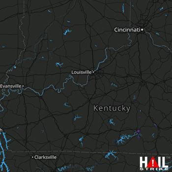 Hail Map LOUISVILLE 07-21-2019