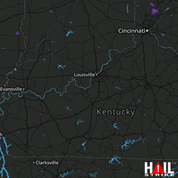 Hail Map Middletown, OH 07-03-2018