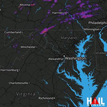 Hail Map York, PA 05-20-2019