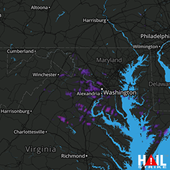 Hail Map Silver Spring, MD 05-23-2019