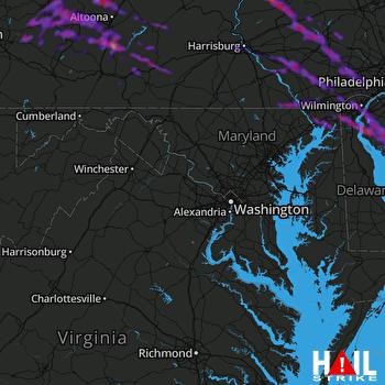 Hail Map Lancaster, PA 05-29-2019