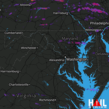 Hail Map Baltimore, MD 05-29-2019