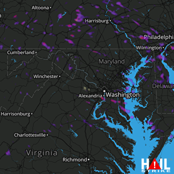 Hail Map Alexandria, VA 06-29-2019