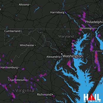 Hail Map Baltimore, MD 08-02-2019