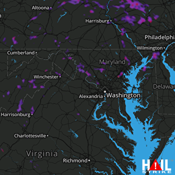Hail Map Baltimore, MD 08-19-2019