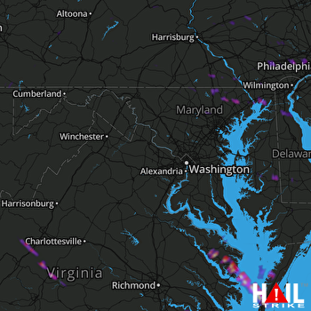 Hail Map Bel Air, MD 04-08-2020