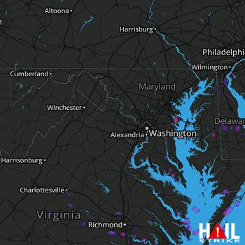 Hail Map Richmond, VA 07-01-2020