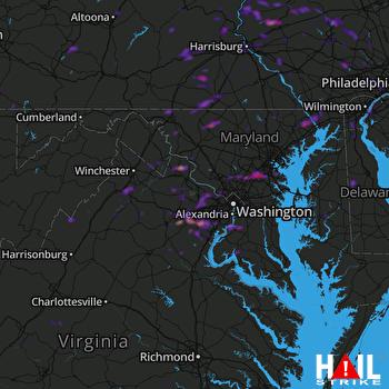 Hail Map Manassas, VA 05-27-2021
